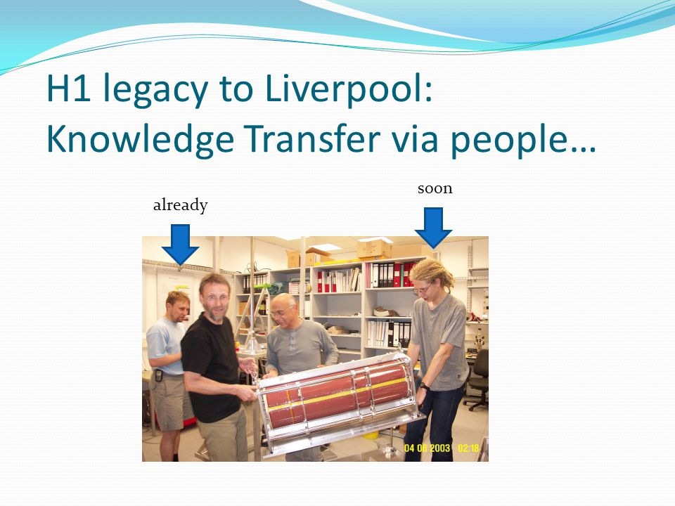 H1 legacy to Liverpool: Knowledge Transfer via people… already soon