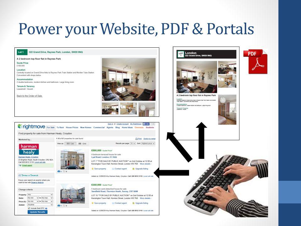 Power your Website, PDF & Portals