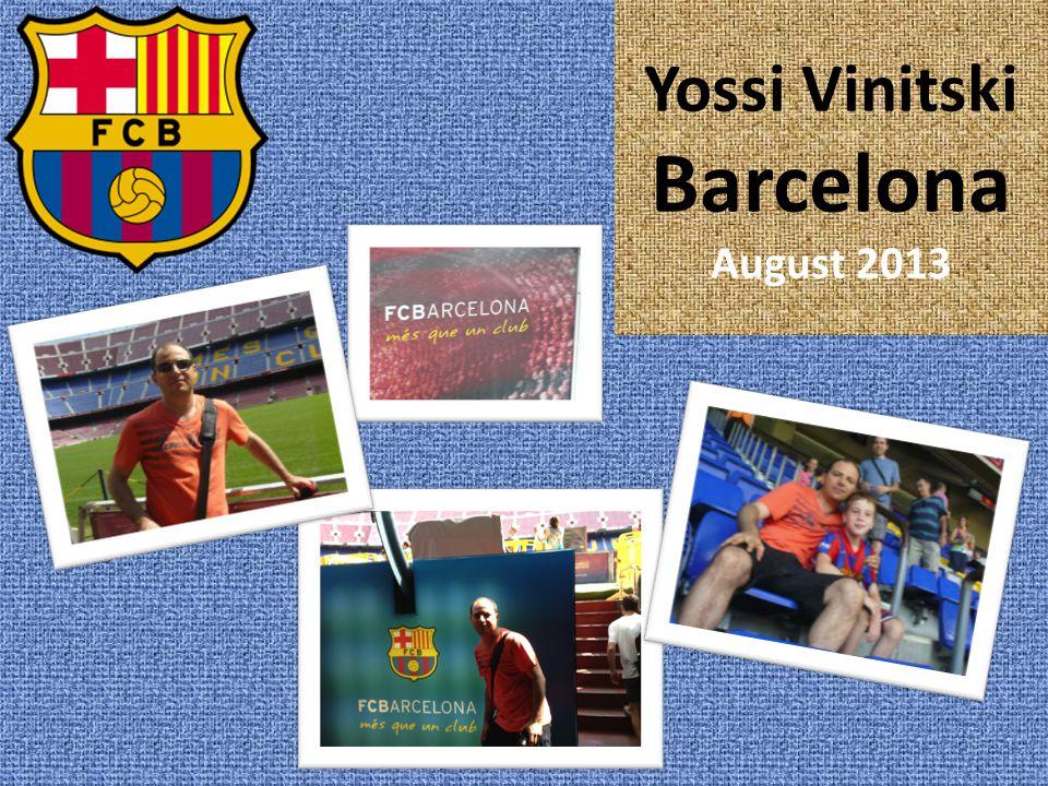 Yossi Vinitski Barcelona August 2013