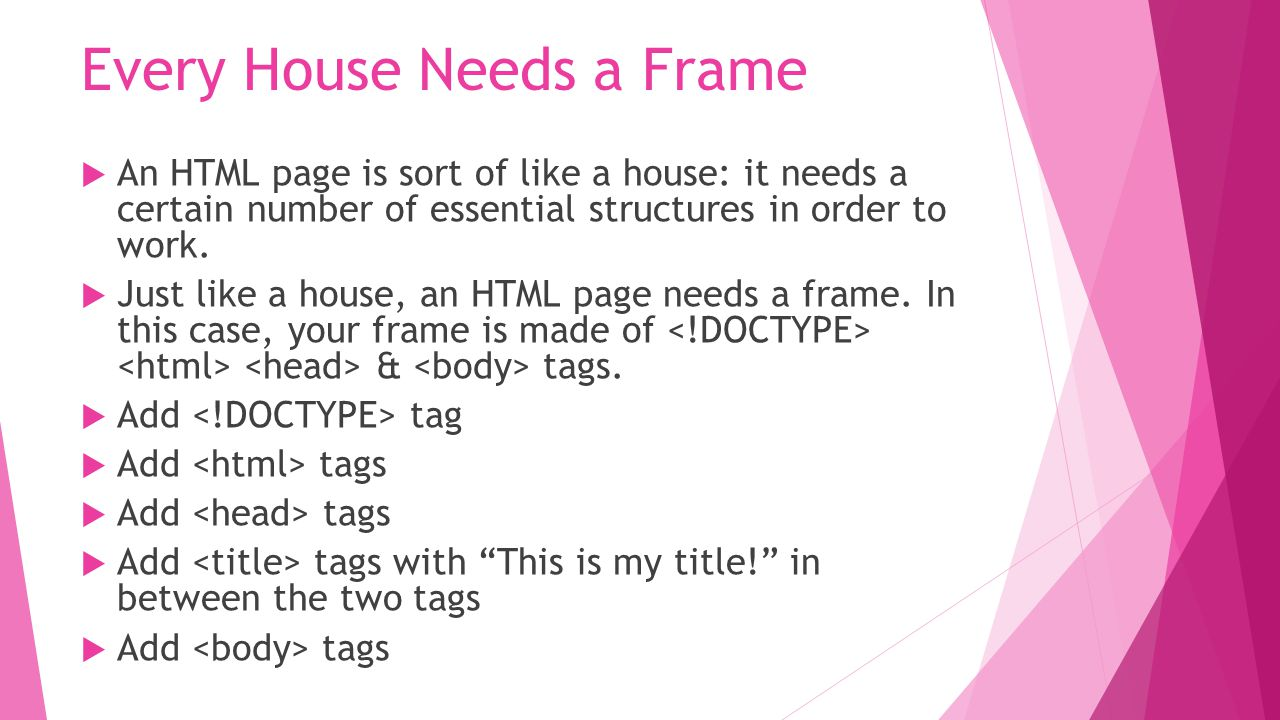 It's Better With a Header  Your webpage could use an header between the body tags to let everyone know that the page is about you.