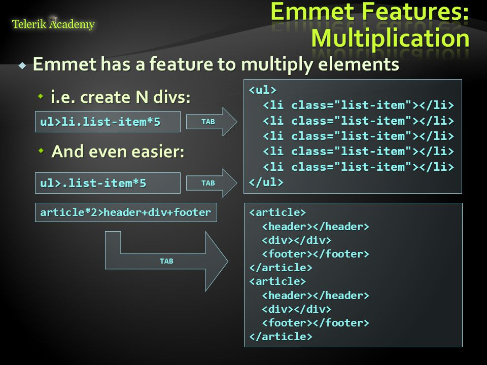  Emmet has a feature to multiply elements  i.e.