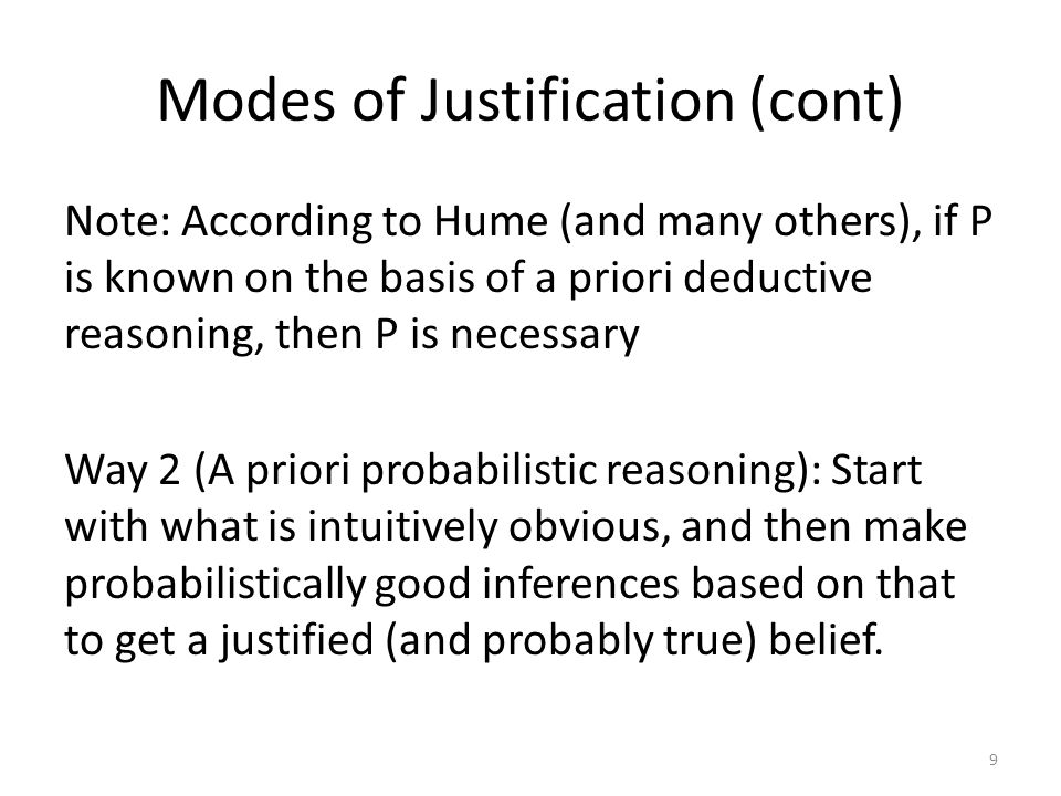 Response 2: The pragmatic defence of induction Induction is at least as good as any other method performing beliefs about the unobserved or the future Objection: Even if this is true, it does not show that we are better off using induction rather than some other (equally good) method See Feldman and Skyrms for more discussion 20