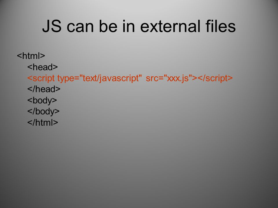 JS can be in external files