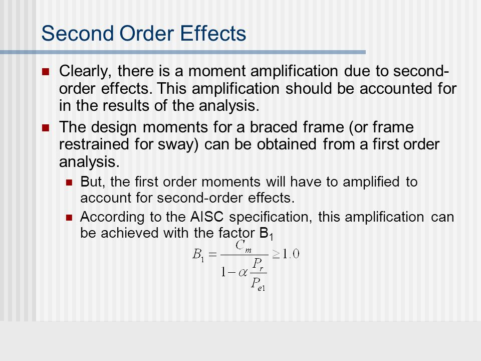 Clearly, there is a moment amplification due to second- order effects.