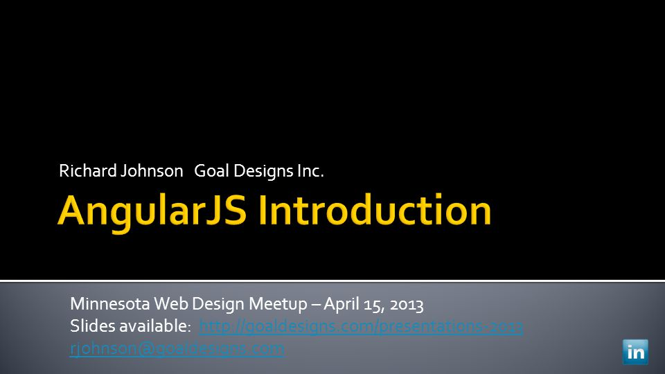 Richard Johnson Goal Designs Inc.