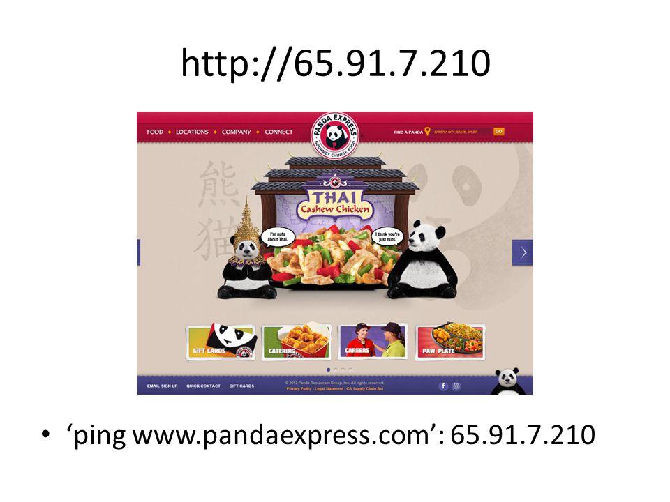 http://65.91.7.210 'ping www.pandaexpress.com': 65.91.7.210