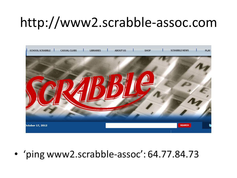 http://www2.scrabble-assoc.com 'ping www2.scrabble-assoc': 64.77.84.73