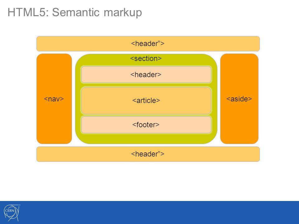 HTML5: Semantic markup