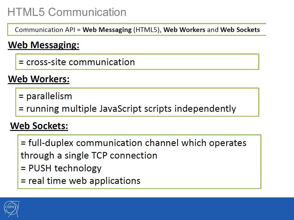HTML5 Communication