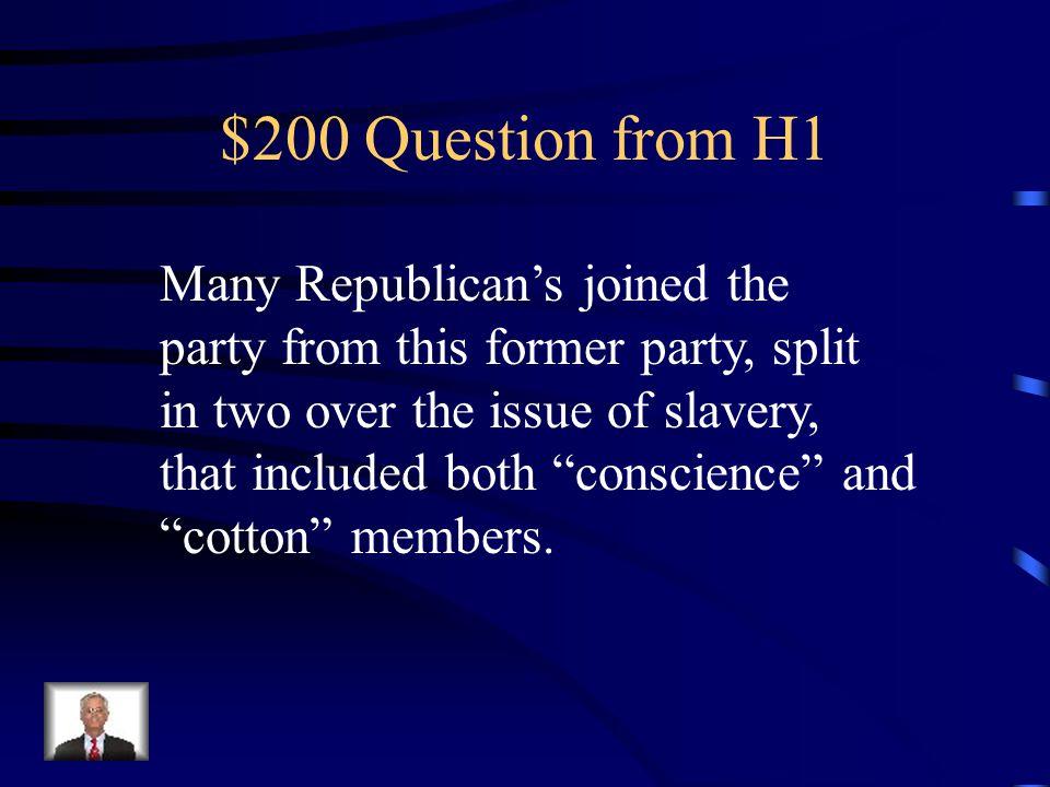 $200 Answer from H5 Seven SC MS AL FL GA LA TX