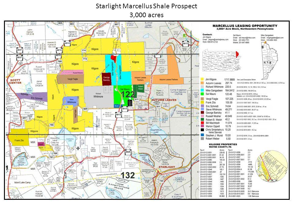 Starlight Marcellus Shale Prospect 3,000 acres