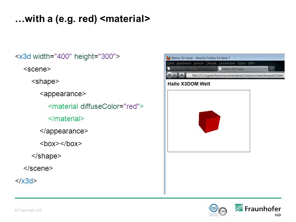 © Fraunhofer IGD …with a (e.g. red)