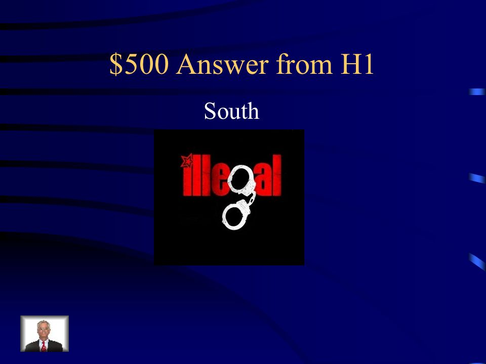 $500 Question from H1 This region of the United States believed they had the power to declare any national law illegal.