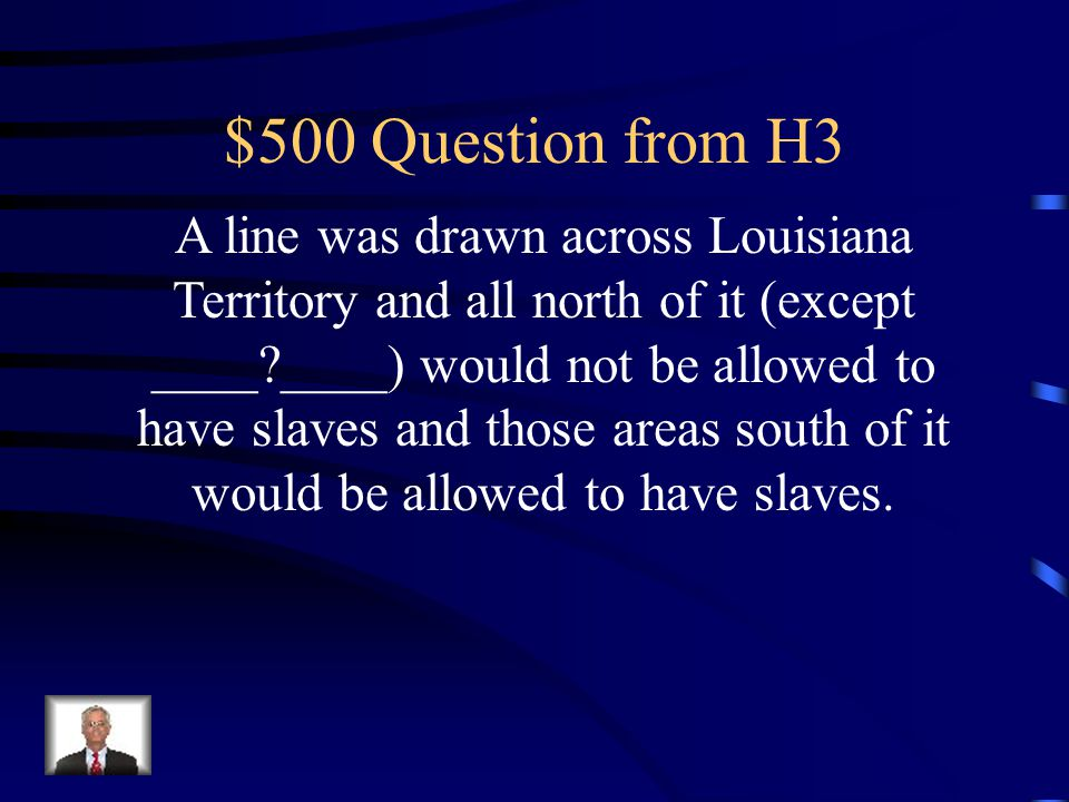 $400 Answer from H3 Kansas-Nebraska Act