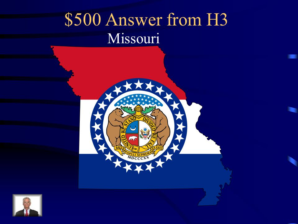 $500 Question from H3 A line was drawn across Louisiana Territory and all north of it (except ____ ____) would not be allowed to have slaves and those areas south of it would be allowed to have slaves.