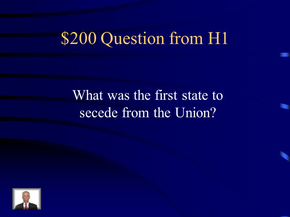 $100 Answer from H1 Secede