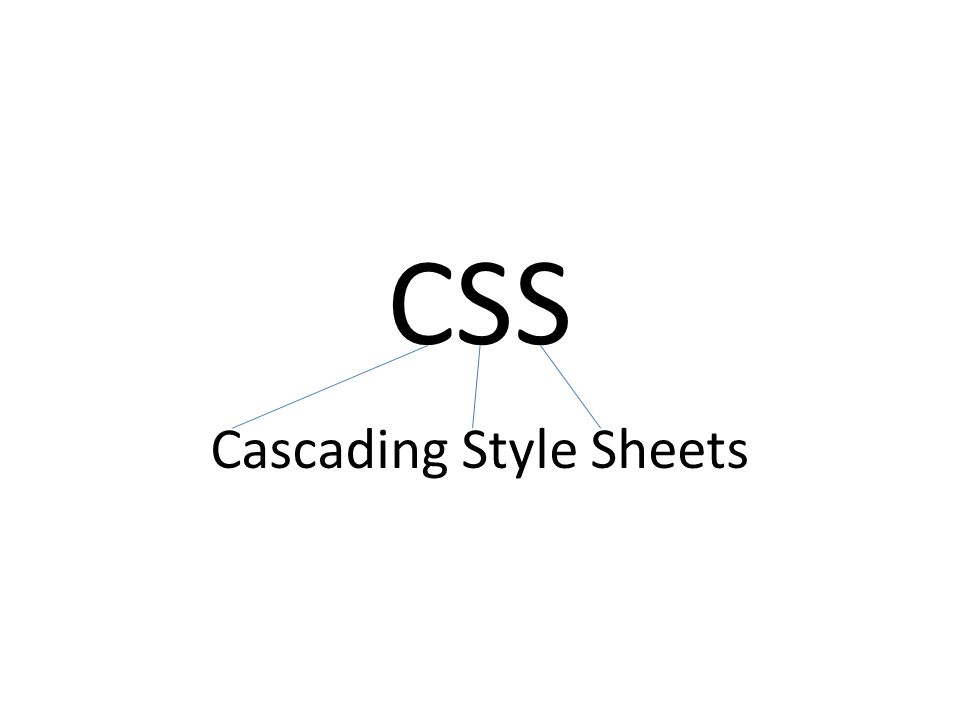 CSS Cascading Style Sheets
