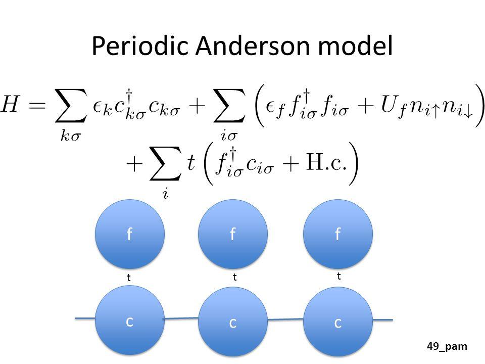 Periodic Anderson model f f c c c c c c f f f f t t t 49_pam