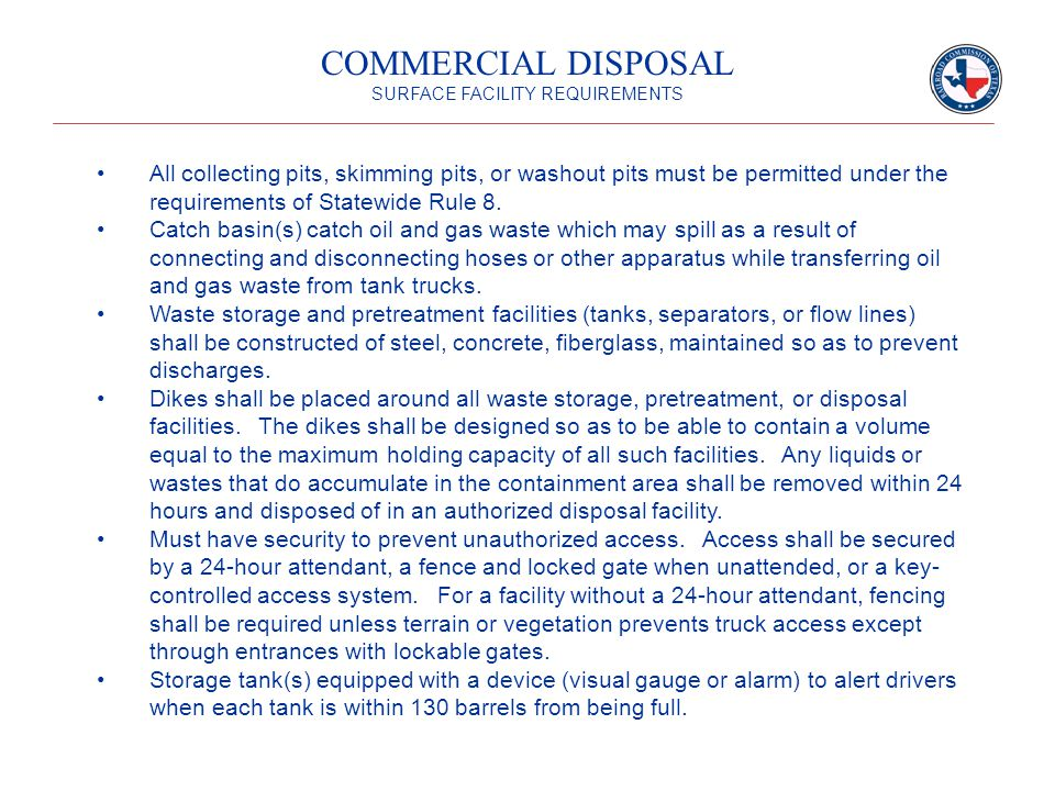 All collecting pits, skimming pits, or washout pits must be permitted under the requirements of Statewide Rule 8.