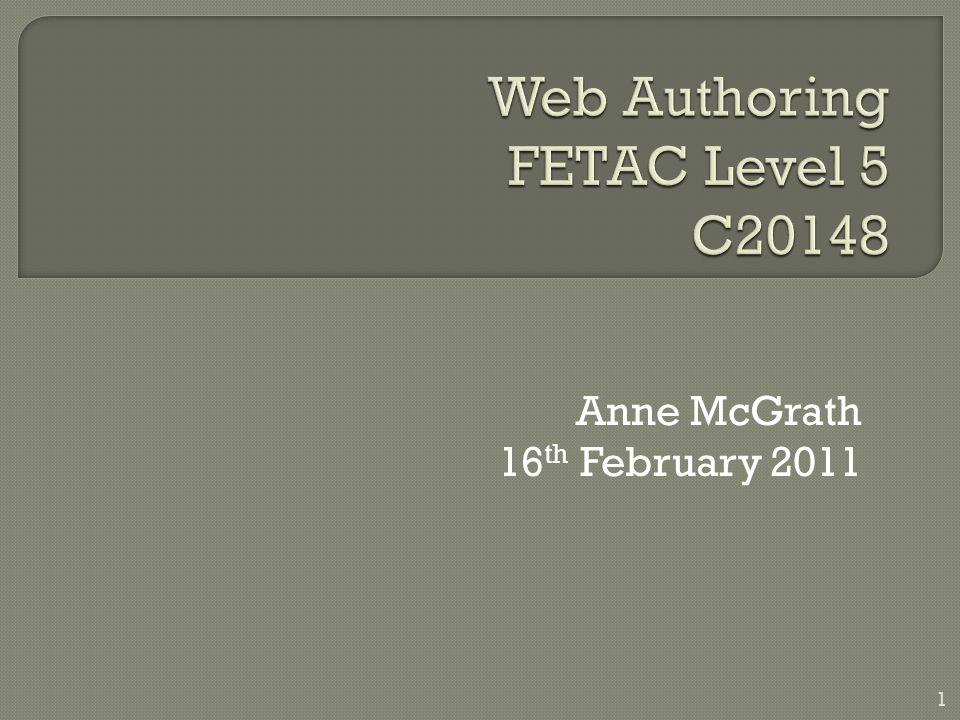 Anne McGrath 16 th February 2011 1
