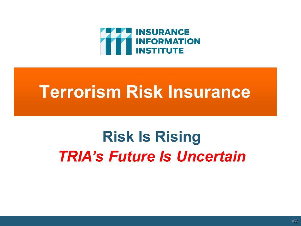 Terrorism Risk Insurance 163 Risk Is Rising TRIA's Future Is Uncertain 12/01/09 - 9pm 163