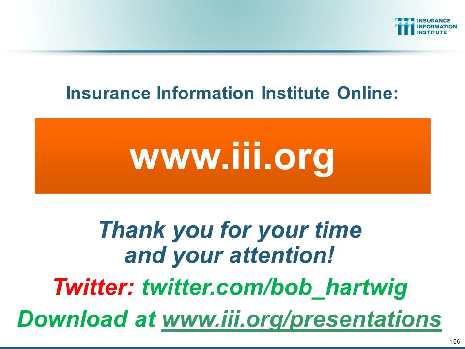www.iii.org Thank you for your time and your attention.