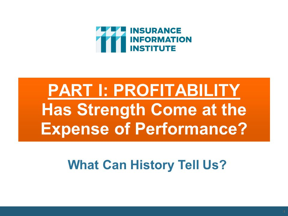 PART I: PROFITABILITY Has Strength Come at the Expense of Performance.