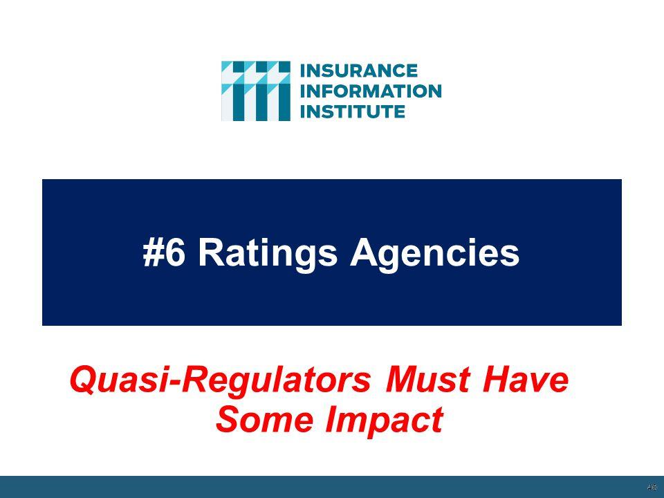 #6 Ratings Agencies 40 12/01/09 - 9pm 40 Quasi-Regulators Must Have Some Impact