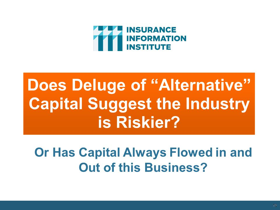 Does Deluge of Alternative Capital Suggest the Industry is Riskier.