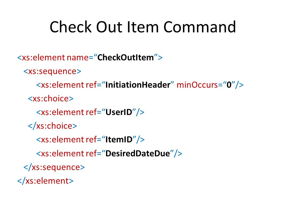 Check Out Item Command