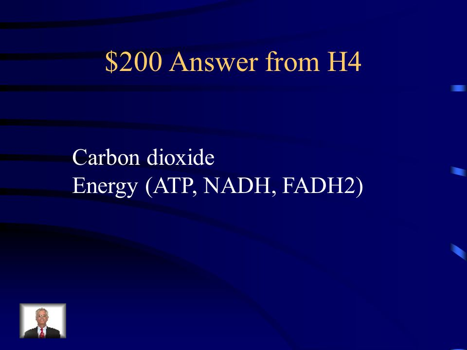 $200 Question from H4 What are the two products produced in Kreb's cycle