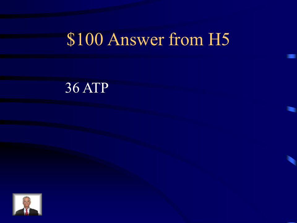 $100 Question from H5 What is the total amount of energy produced In cellular respiration
