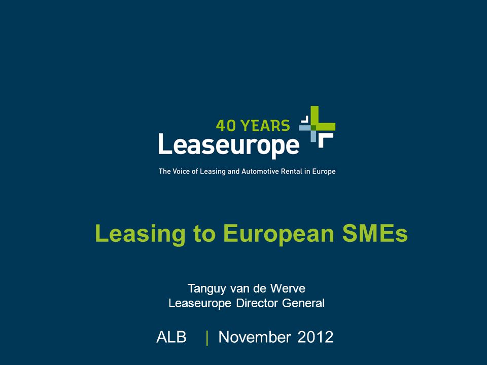 Leaseurope © Through which channels do SMEs access leasing.