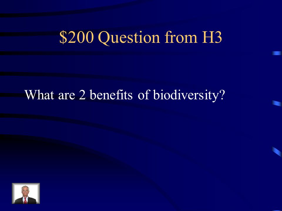 $100 Answer from H3 Species diversity