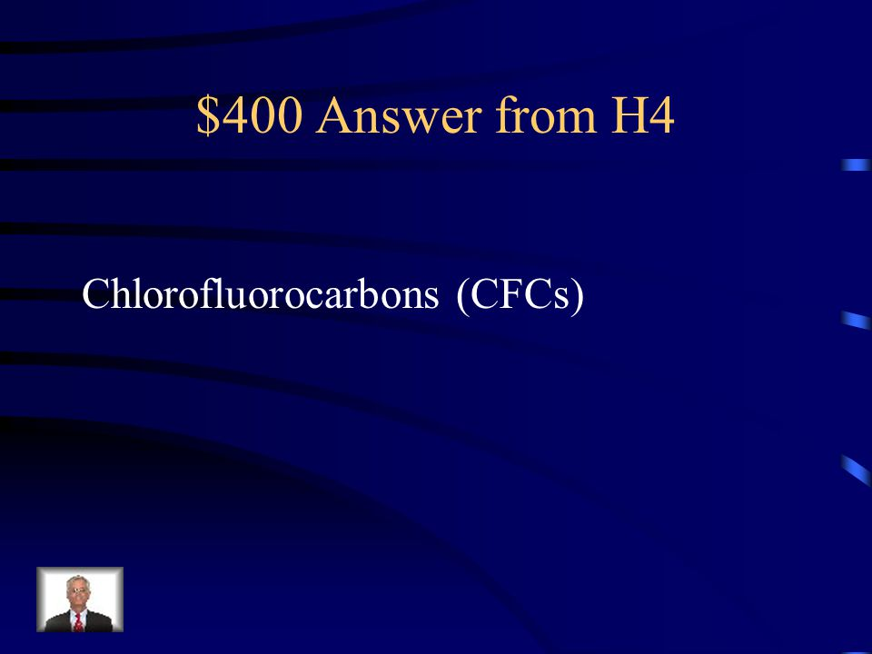 $400 Question from H4 The full name of the chemicals that were Damaging the ozone layer