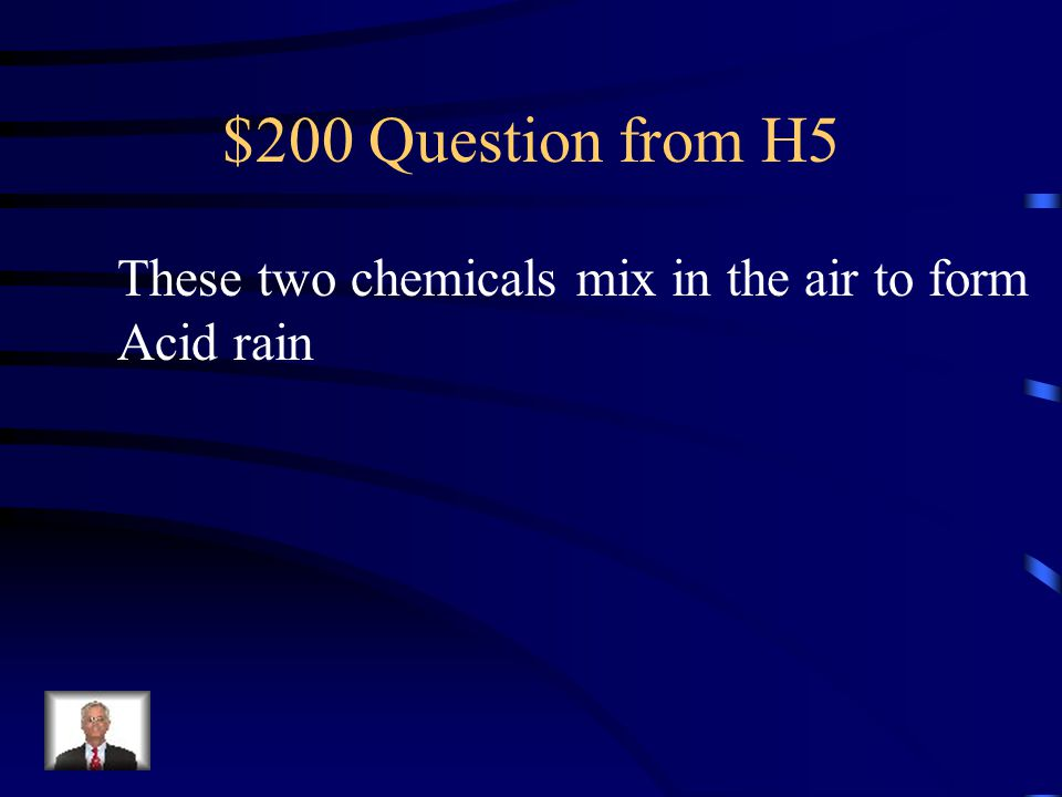 $100 Answer from H5 Smog