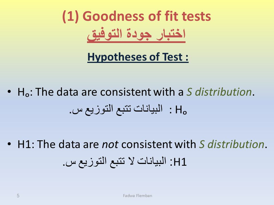 Goodness of fit tests Example This data are representing the number of persons who ate the dinner in a small restaurant on 50 days: Is a variable of the persons number who ate the dinner in the restaurant following the normal distribution at the level of significance (0.05).