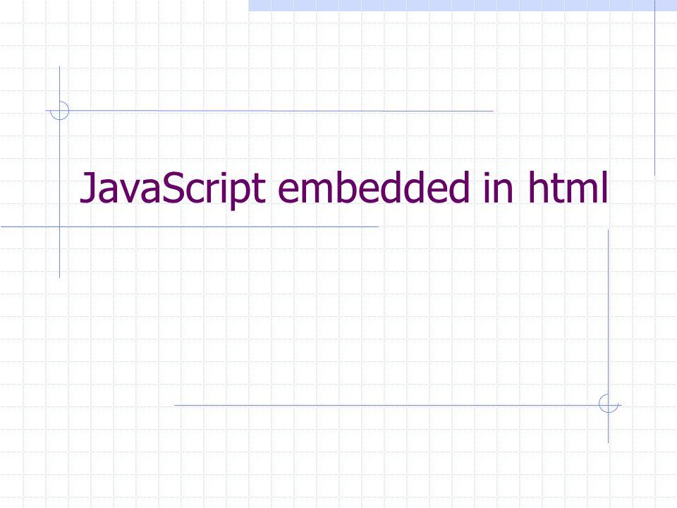 JavaScript embedded in html