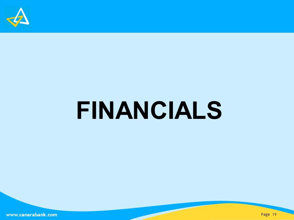 Page 19 www.canarabank.com FINANCIALS