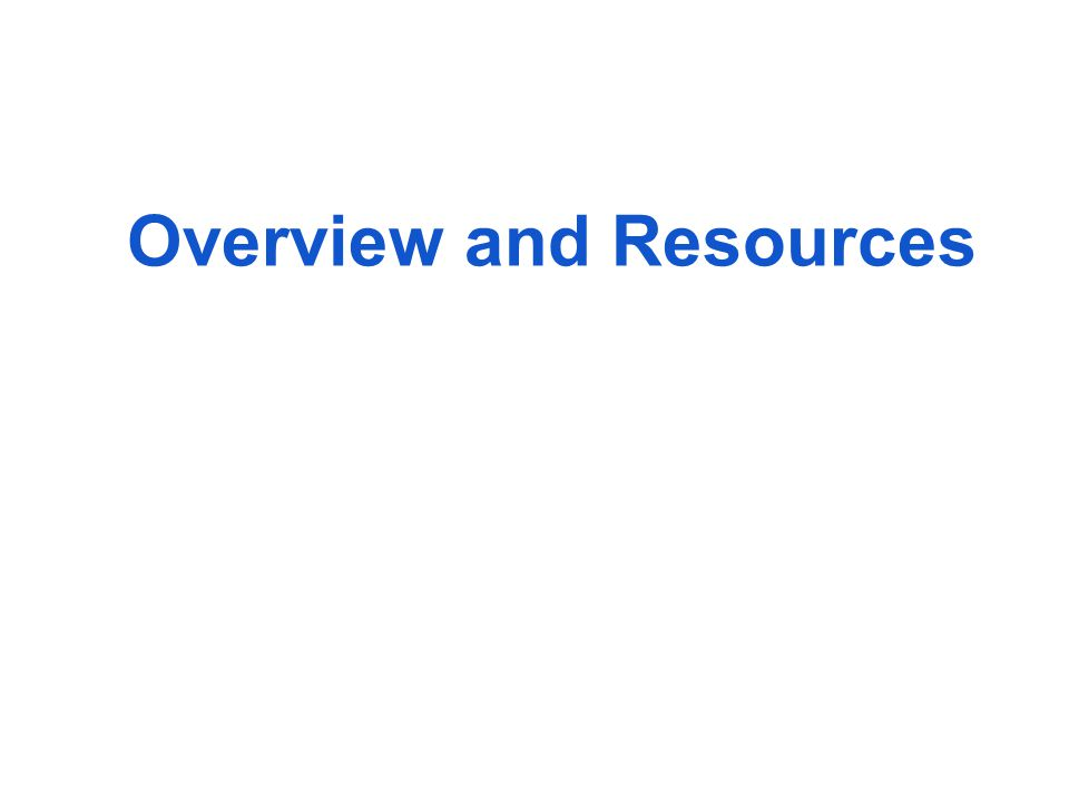 Additional Resources None of the following are required These are suggestions, for INFORMATION ONLY