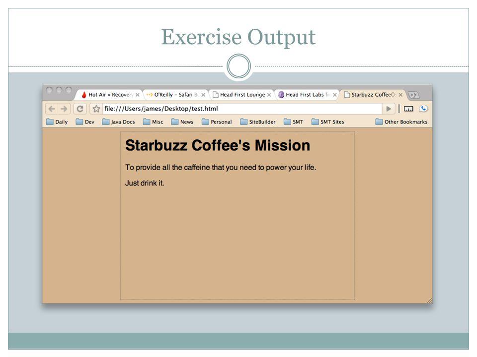 Exercise Output