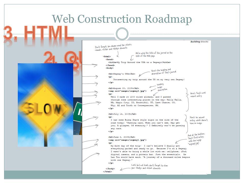Web Construction Roadmap