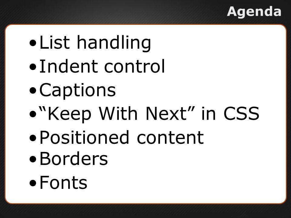 List Handling