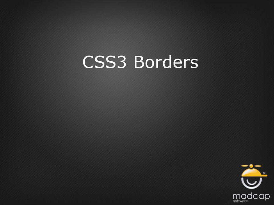 CSS3 Borders