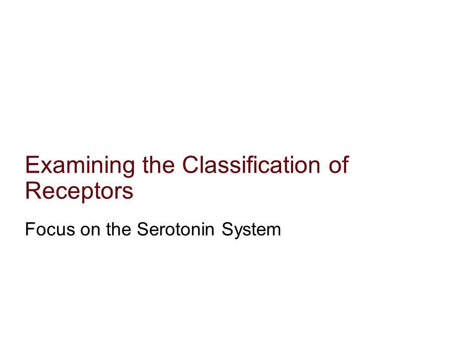 Examining the Classification of Receptors Focus on the Serotonin System