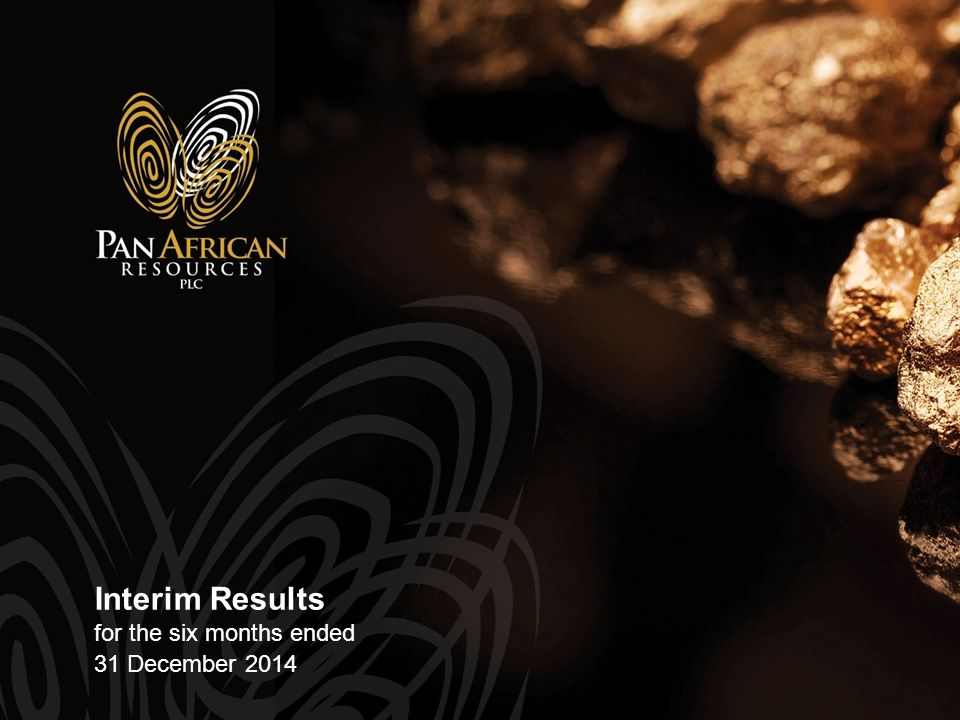 Interim Results for the six months ended 31 December 2014