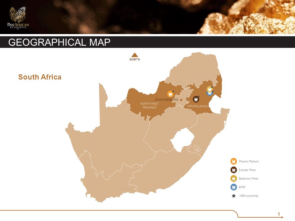 5 GEOGRAPHICAL MAP JOHANNESBURG NORTH South Africa
