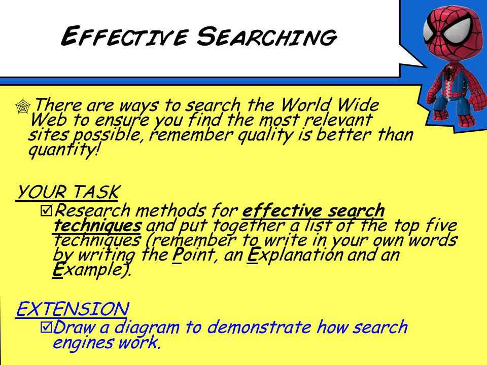 How search engines find information Search engines send out Web crawlers to collect information about websites.