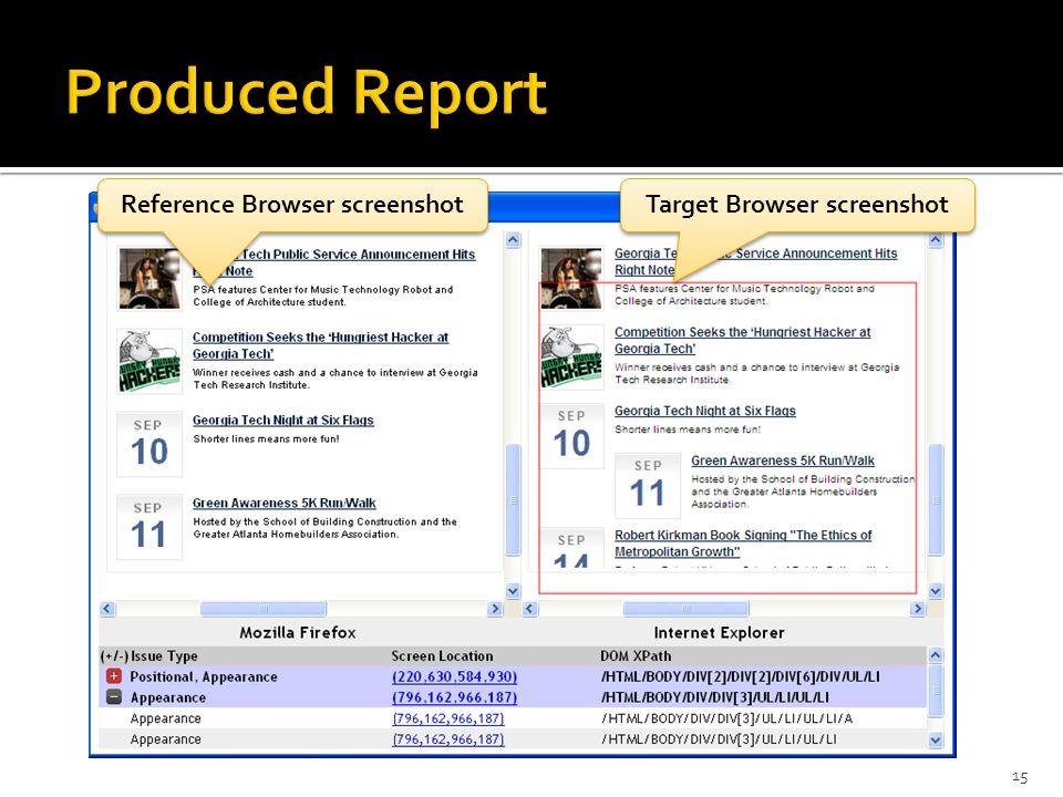 15 Reference Browser screenshot Target Browser screenshot