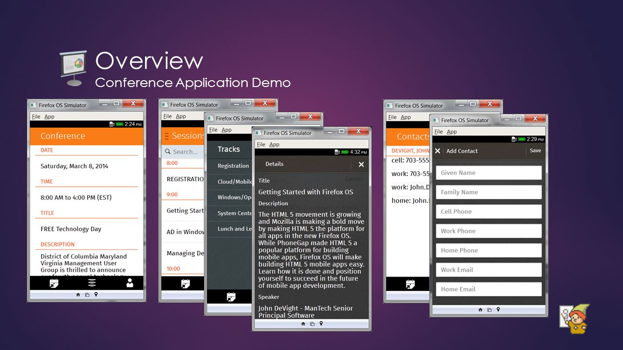 Overview Conference Application Demo